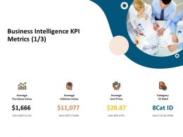 Business Intelligence KPI Metrics Lifetime Value Ppt Presentation Styles