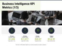Business Intelligence KPI Metrics M2799 Ppt Powerpoint Presentation Ideas Inspiration