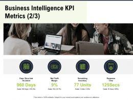 Business Intelligence KPI Metrics M2800 Ppt Powerpoint Presentation Summary Professional
