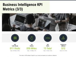 Business Intelligence KPI Metrics M2801 Ppt Powerpoint Presentation Portfolio Demonstration