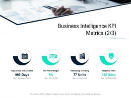 Business Intelligence Kpi Metrics Margin Data Integration Ppt Gallery Template