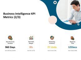 Business Intelligence KPI Metrics Remaining Inventory Ppt Presentation Show