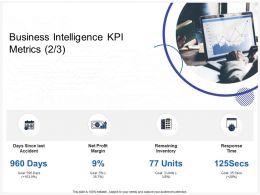 Business Intelligence KPI Metrics Time Ppt Powerpoint Presentation Show Slides