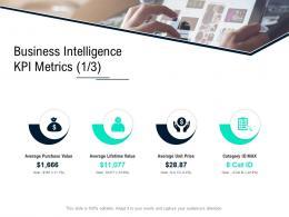 Business Intelligence Kpi Metrics Value Data Integration Ppt Styles Templates