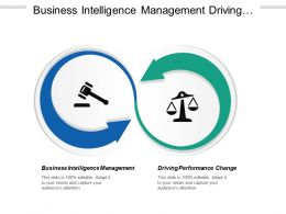 Business Intelligence Management Driving Performance Change Enterprise Accounting Cpb