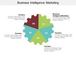 Business Intelligence Marketing Ppt Powerpoint Presentation Icon Information Cpb