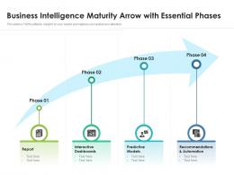 Business Intelligence Maturity Arrow With Essential Phases