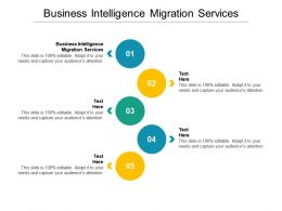 Business Intelligence Migration Services Ppt Powerpoint Presentation Layouts Slide Cpb