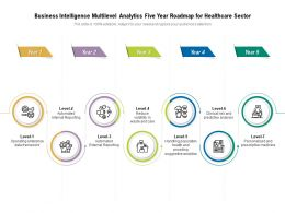 Business Intelligence Multilevel Analytics Five Year Roadmap For Healthcare Sector