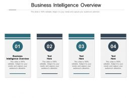 Business Intelligence Overview Ppt Powerpoint Presentation Ideas Tips Cpb