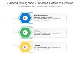 Business Intelligence Platforms Software Reviews Ppt Powerpoint Presentation Show Slideshow Cpb