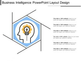 Business Intelligence Powerpoint Layout Design