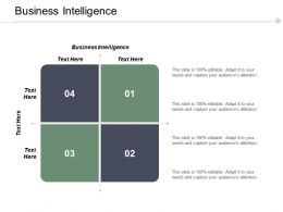 Business Intelligence Ppt Powerpoint Presentation Icon Design Inspiration Cpb