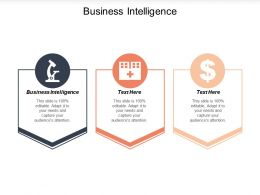 Business Intelligence Ppt Powerpoint Presentation Icon Grid Cpb