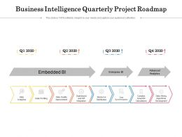 Business Intelligence Quarterly Project Roadmap