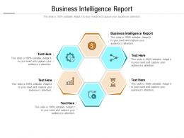 Business Intelligence Report Ppt Powerpoint Presentation Styles Visual Aids Cpb