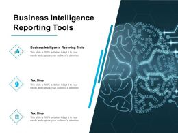 Business Intelligence Reporting Tools Ppt Powerpoint Presentation Slides Ideas Cpb