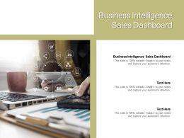 Business Intelligence Sales Dashboard Ppt Powerpoint Presentation File Designs Download Cpb