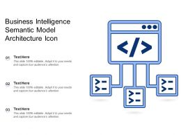 Business Intelligence Semantic Model Architecture Icon