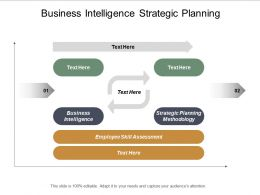 Business Intelligence Strategic Planning Methodology Employee Skill Assessment Cpb