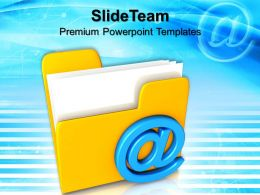 Business Intelligence Strategy Templates Mail Folder Internet Success Ppt Themes Powerpoint