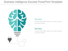Business Intelligence Success Powerpoint Templates
