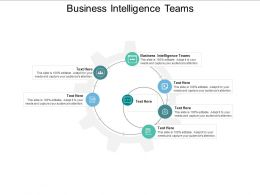 Business Intelligence Teams Ppt Powerpoint Presentation Portfolio Background Cpb