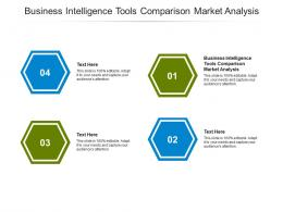 Business Intelligence Tools Comparison Market Analysis Ppt Powerpoint Presentation Gallery Sample Cpb