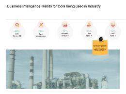 Business Intelligence Trends For Tools Being Used In Industry Self Ppt Icon