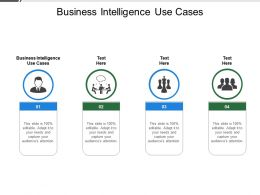 Business Intelligence Use Cases Ppt Powerpoint Presentation Outline Outfit Cpb