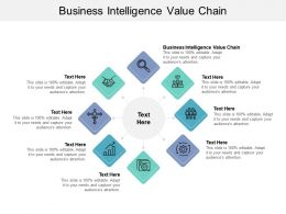 Business Intelligence Value Chain Ppt Powerpoint Presentation Slides Templates Cpb