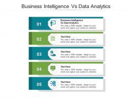 Business Intelligence Vs Data Analytics Ppt PowerPoint Presentation Gallery Cpb