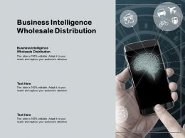 Business Intelligence Wholesale Distribution Ppt Powerpoint Presentation Model Gallery Cpb