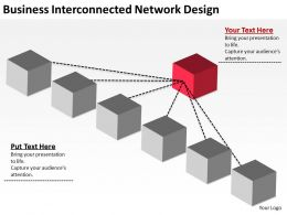 Business Interconnected Network Design Ppt Powerpoint Slides