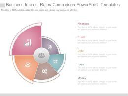 Business Interest Rates Comparison Powerpoint Templates