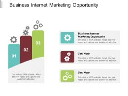 Business Internet Marketing Opportunity Ppt Powerpoint Presentation Ideas Grid Cpb