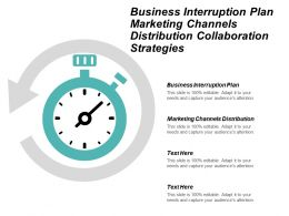 Business Interruption Plan Marketing Channels Distribution Collaboration Strategies Cpb