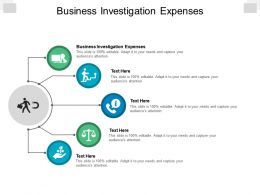 Business Investigation Expenses Ppt Powerpoint Presentation Show Design Ideas Cpb