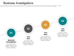 Business Investigations Ppt Powerpoint Presentation Gallery Good Cpb