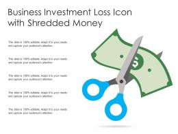 Business Investment Loss Icon With Shredded Money