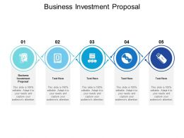 Business Investment Proposal Ppt Powerpoint Presentation Professional Cpb