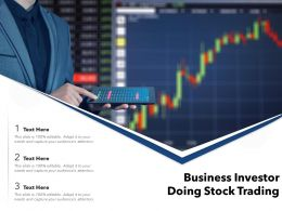 Business Investor Doing Stock Trading