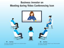 Business Investor On Meeting During Video Conferencing Icon