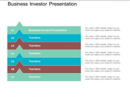 Business Investor Presentation Ppt Powerpoint Presentation Pictures Deck Cpb