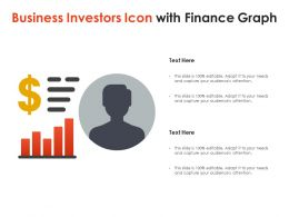 Business Investors Icon With Finance Graph