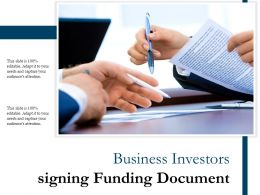 Business Investors Signing Funding Document