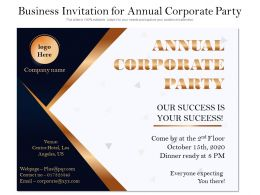 Business Invitation For Annual Corporate Party