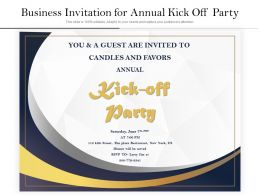 Business Invitation For Annual Kick Off Party