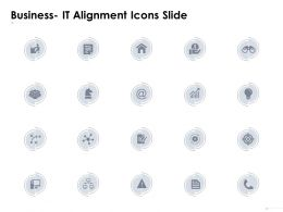 Business It Alignment Icons Slide Gears Checklist D70 Ppt Powerpoint Presentation Ideas