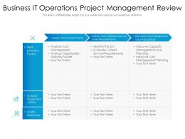Business IT Operations Project Management Review
